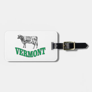 green vermont luggage tag