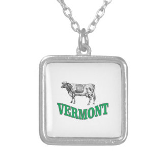 green vermont silver plated necklace