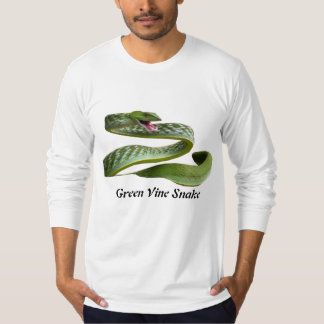 Green Vine Snake American Apparel Long T-shirt