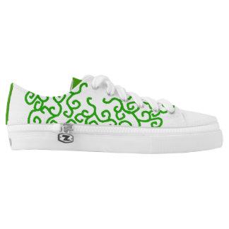 Green Vine Swirl Design shoes