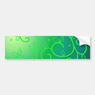 Green Vines Irish Luck Ireland Plant Flowers Art Bumper Sticker