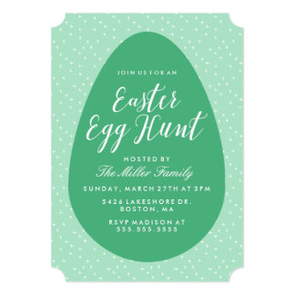 Green Vintage Easter Egg Hunt 13 Cm X 18 Cm Invitation Card