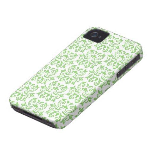 Green vintage floral damask pattern case blackberry bold cover