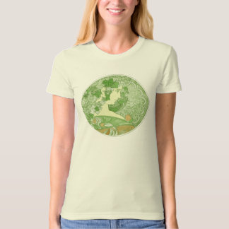 Green Vintage Goddess Art T-Shirt