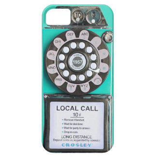 green vintage payphone iphone case