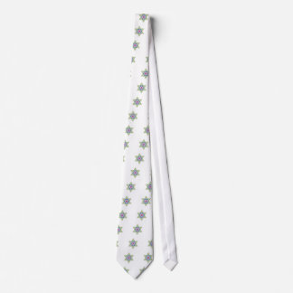 Green Vintage Star of David - Magen David Tie