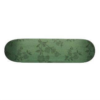 Green Vintage Wallpaper Skateboard Decks