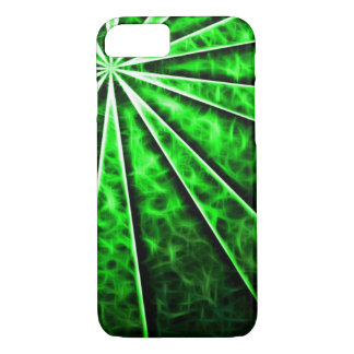 Green Vortex Fractal iPhone 7 Case