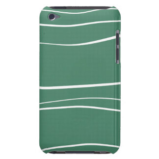 Green w- Brush Strokes Barely There iPod Covers