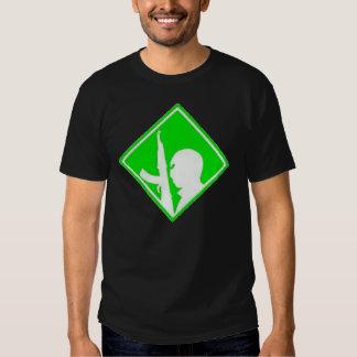 Green War on Terror Airbrush Symbol T-shirts