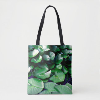 Green Water Lilies Tote Bag
