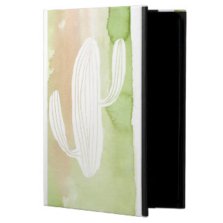 Green Watercolor Cactus Silhouette iPad Air Covers