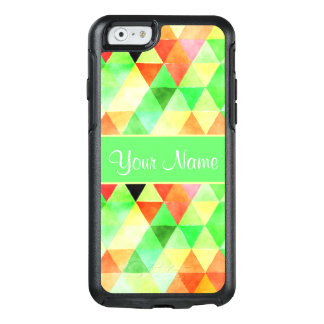 Green Watercolor Geometric Triangles OtterBox iPhone 6/6s Case