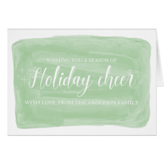 Green Watercolor Holiday Cheer Card