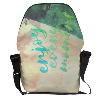 Green Watercolor Jogging Running Inspirational Courier Bags