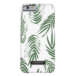 Green Watercolor Leaves Pattern Custom iPhone Barely There iPhone 6 Case