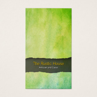 Green Watercolor Wash Retail Trade Business Card