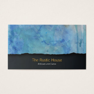 Green Watercolor Wash Tearaway Retail BusinessCard