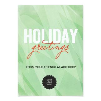 Green Watercolors Flat Card