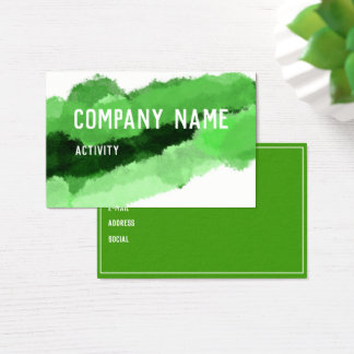 Green Watercolour Businesscard Business Card