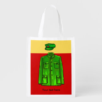 Green Watercolour Chairman Mao Coat and Hat