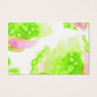 Green watercolour creative design business card