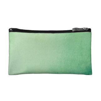 Green Watercolour Marble Makeup Bag