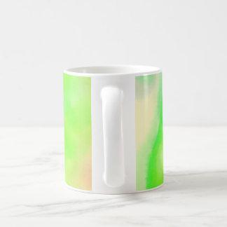 Green watercolour mug