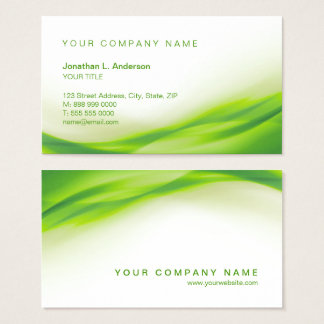Green Wave business card