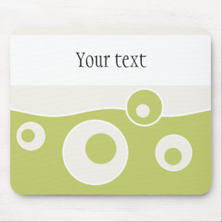 Green Wave Mouse Pad
