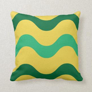 Green Waves American MoJo Pillows