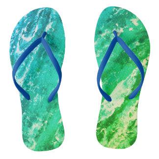 Green Waves Thongs