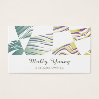 Green Wavy Pattern Business Card