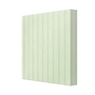 Green Weave Pattern Canvas Prints