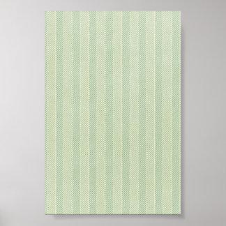 Green Weave Pattern Print