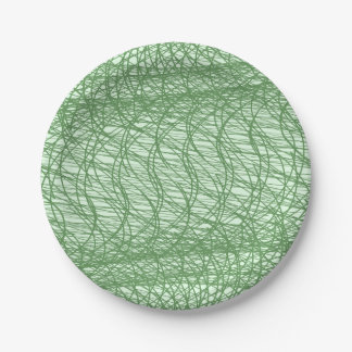 Green Webs 7 Inch Paper Plate