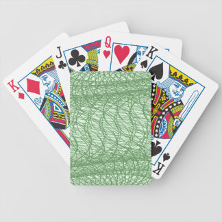 Green Webs Bicycle Playing Cards