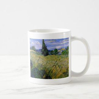 Green Wheat Field with Cypress by Van Gogh. Mugs