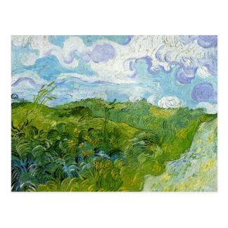 Green Wheat Fields by Van Gogh Postcard