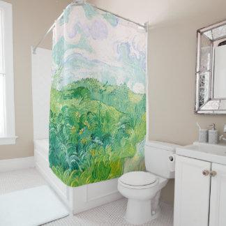 Green Wheat Fields Vincent Van Gogh Fine Art Shower Curtain