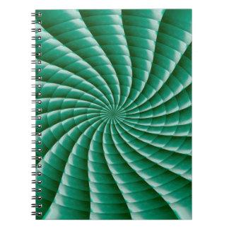 Green Wheel Chakra TEMPLATE add TEXT IMG customize Note Books