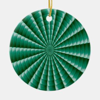 GREEN Wheel Chakra TEMPLATE add TXT IMG Customize Ceramic Ornament