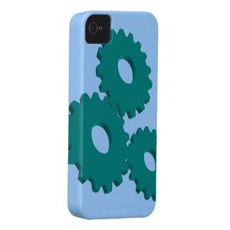 Green Wheel Clock Cogs theme Case-Mate iPhone 4 Case