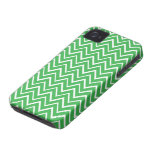 Green whimsical zigzag chevron pattern case