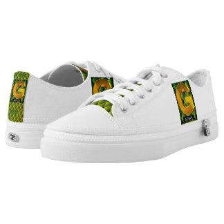 Green White and Gold G Apparel Shoes