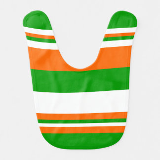 Green, White and Orange Stripes Bib