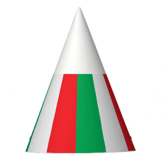 Green, white and red - Italian flag Party Hat