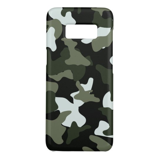 Green White camo camouflage army pattern Case-Mate Samsung Galaxy S8 Case