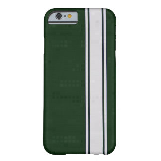 Green & White Carbon Fiber Stripe iPhone 6 case Barely There iPhone 6 Case