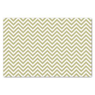 Green/White Chevron Pattern Tissue Paper